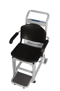 """Digital Chair Scale, Capacity: 600 lbs/272kg, Seat Dimension: 15-1/2"""" x 18-1/4"""" x 16-1/2"""", EMR Connectivity via USB, Motion-Sensing Weighing Technology, 1-1/8"""" LCD Display, Resolution: 0.2lb/ 0.1kg, 120V AC Adapter"""