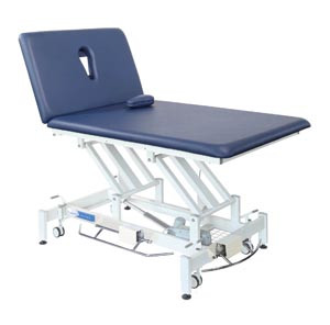 Treatment Table, 2-Section, Pewter Gray