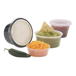Plastic Souffle Cup, 3¼ oz, 125 per sleeve, 20sleeves per case