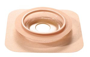 """Durahesive Skin Barrier with Mold-to-Fit Opening, Hydrocolloid Tape Collar, 2-1/4"""" Accordion Flange, 1/2"""" - 7/8"""" Stoma Opening, Tan, box of 10"""