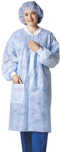 Lab Coat, Large/ X-Large, White, 30 per case