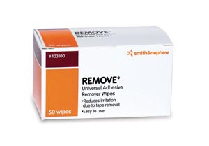 Adhesive Remover Wipes, 50 per pack, 20 pack, per case
