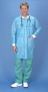 Lab Coat, Small/ Medium, Blue, 30 per case