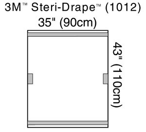 "3M Fluoroscope Drape, 35"" x 43"", Transparent, 2 Adhesive Strips & 2 Adhesive Patches, 10 per box, 4 boxes per case"