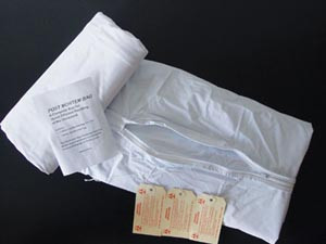 "Post Mortem bag, Straight Zipper, Baby, 3 Tags, 18"" x 27"", 20 per case"