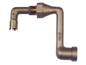 """Justrite® Cast Iron Elbow 0.75"""" fitting for mounting 08101 or 08005"""