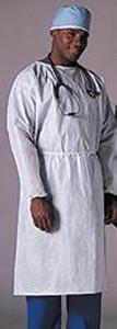 Full Back Gown, White, 50 per case