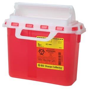 Sharps Collector, 2 Gallon, Next Generation, Counter Balanced Door, Pea Roll, 10 per case