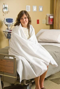 """ComFort1Blanket, 50"""" x 84"""", Disposable, White, Polyester, 10 per case"""