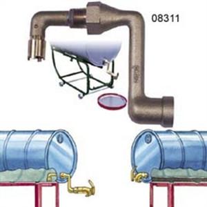 Justrite 08311 Brass Drum Siphon Adapter
