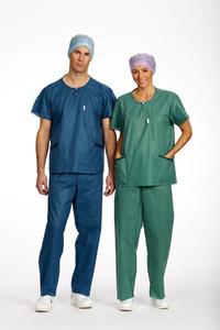 Mens Drawstring Pants, Slate Green, X-Large Drawstring, 12 per bag, 4 bags per case