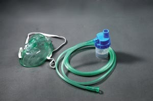 Oxygen Mask, Non-Rebreather, Pediatric with 7 ft Tubing, Reservoirbag, 50 per case