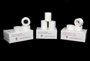 "Silk Surgical Tape, 3"" x 10 yds, 4 per box, 12 boxes per case"