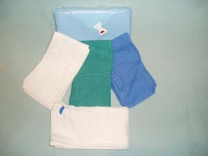 """O.R. Towel, Sterile, 17"""" x 26"""", Blue, 4pouch per pack, 20 packs per case"""