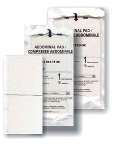 "Abdominal Pad, 5"" x 9"", Sterile 1s, Sealed Ends, 20 per pack, 20 packs per case"