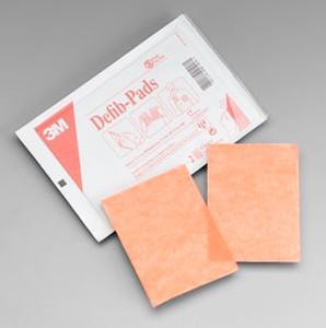 "3M Defib Pad, 4-1/2"" x 4-1/2"", 2 per pack, 10 packs per box, 10 boxes per case"