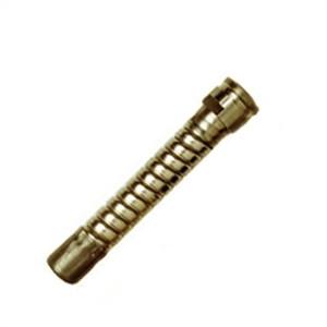 """Justrite Brass Flexible Faucet Extension / Hose Attachment, 2.75"""""""