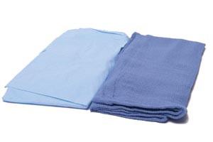 """OR Towel, 17"""" x 26"""", Non-Sterile, Blue, 100 per case"""