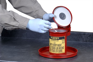 Portable 0.45 gallon Bench Top Solvent Can