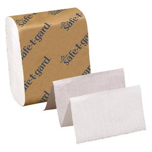 """Interfolded Tissue, White, 4"""" x 10"""" Sheets, 200 sht per pack, 40 packs per case"""