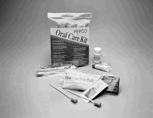 Oral Care Kit, Includes: 20-Poly Plus Dentaswabs, Mint Flavor Dentrifrice, 1.5 oz Mint Flavor Hydrogen Peroxide, & 0.35 oz Mouth Moisturizer, 50 kits per case
