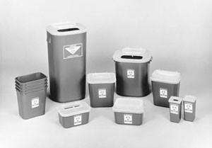 "Sharps Container, 1 Gallon Translucent Red, 10""W x 7""D x 5""H, 24 per case"