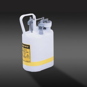 Justrite® 1 gal Centura Quick-Disconnect Safety Can, PP Fittings