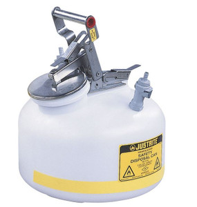 Justrite® 2 gal Centura Quick-Disconnect Safety Can, PP Fittings