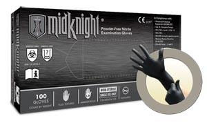 Exam Gloves, PF Nitrile, Textured, Black, XX-Large, 100 per box, 10 boxes per case
