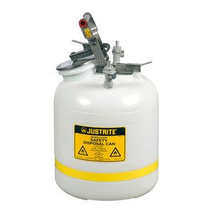 Justrite 12755PP Safety Can, 5 gal Quick-Disconnect with PP Fittings