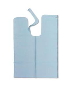 "Bib, 20"" x 29"", Die Cut Neck, Blue, X-Large Tissue/ Poly, 500 per case"