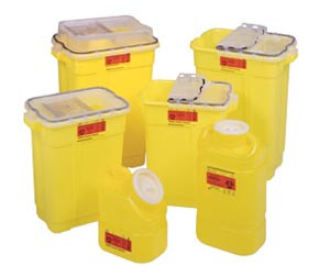 Sharps Collector, 5 Gallon, Plug Cap, Yellow