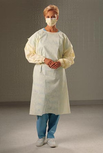 Cover Gown, Yellow, X-Large, 100 per case