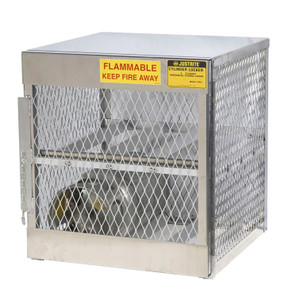 Horizontal Gas Cylinder Storage Locker, Aluminum, 4 Cylinders