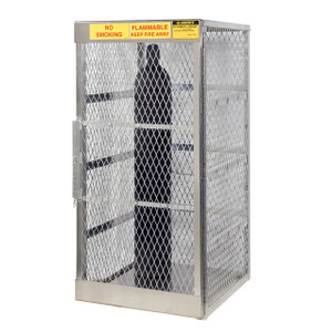 Vertical Gas Cylinder Storage Locker, Aluminum, 5-10 Cylinders