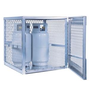 Vertical Gas Cylinder Storage Locker, Aluminum (CSA) 4 Cylinder