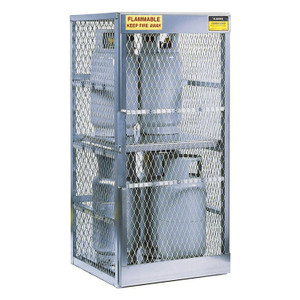 Vertical Gas Cylinder Storage Locker, Aluminum (CSA), 8 Cylinder