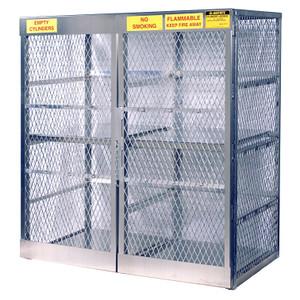 Vertical Gas Cylinder Storage Locker, Aluminum (CSA) 16 Cylinder