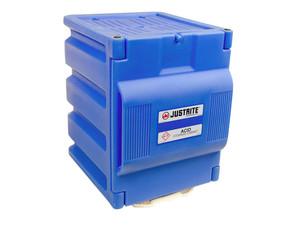 Justrite® Acid Countertop Cabinet 8 Liter Blue polyethylene