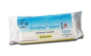 "Disinfectant Wipes, Soft pack, 9"" x 10"", 72 per pack, 12 packs per case"