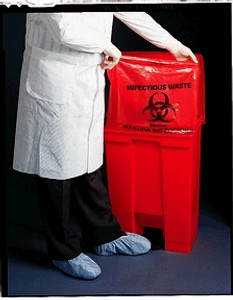 """Infectious Wastebag, 24"""" x 24"""", 1.2 mil, 500 per case"""