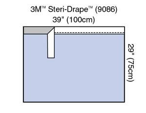 "3M Steri-DrapeAdhesive Towel Drape, 39"" x 29"", Absorbent Impervious Material, 40 per box, 4 boxes per case"