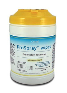 """Disinfectant Wipes, 6"""" x 6-3/4"""", 240/canister, 12can per case"""