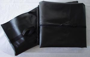 """Black Disasterbag, Curved Zipper with 6 Handles, 36"""" x 90"""", 5 per case"""