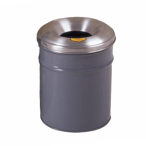 Justrite® Steel Cease-Fire Waste Drum, Aluminum Head, 4.5 gal
