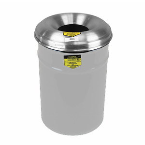 Justrite® Steel Cease-Fire Waste Drum, Aluminum Head, 15 gal