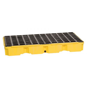 Eagle Modular Spill Platforms, 2 Drum, With Drain, Yellow