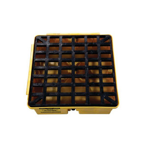 Eagle Modular Spill Platforms, 1 Drum, With Drain, Yellow
