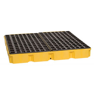 Eagle Modular Spill Platforms, 4 Drum, With Drain, Yellow