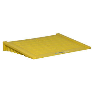 Justrite Ramp For 2 Drum And Larger EcoPolyBlend Accumulation Center, Polyethylene, Yellow